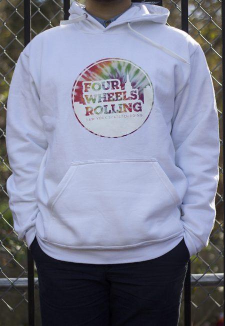 Tie Dye OG Logo Hoodie – White